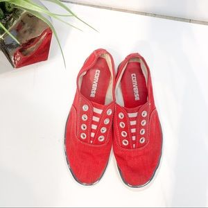 Converse All Star Red 4.5 slip on sneakers